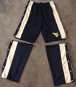 West Virginia Mountaineers Starter Team Men's L Tearaway Warmup Pants/Shorts & T