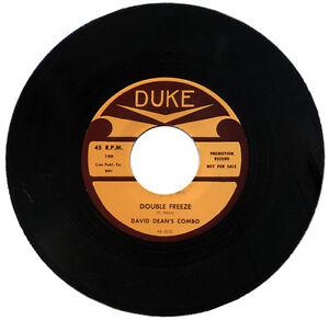 "DAVID DEAN'S COMBO  ""DOUBLE FREEZE"" 1958  R&B"