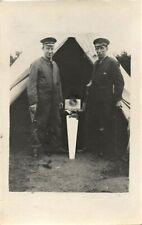 WW1 Airman Carpenters RNAS Royal Naval Air Service outside bell tent
