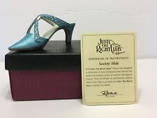Just The Right Club Shoe Society Slide 2000 Mint In Box W/Coa #25064 Raine