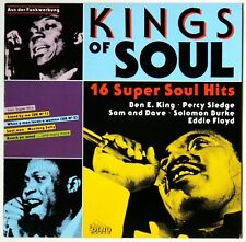 KINGS OF SOUL. 16 SUPER SOUL HITS. VINYL NEAR MINT. COVER VERY GOOD PLUS