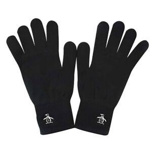Mens Original Penguin Symes Black/White Gloves (CMAC8) RRP £19.99