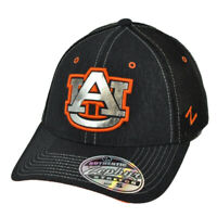 NCAA Zephyr Auburn Tigers Flex Fit Small Mesh Hat Cap Black Stretch Curved Bill