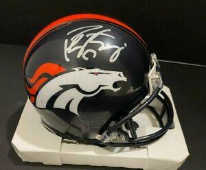 Peyton Manning Signed Denver Broncos Mini Helmet COA
