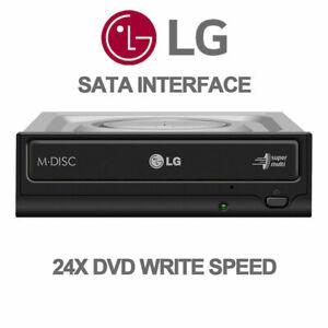 LG OEM SATA 24x Internal CD DVDRW ROM Black Burner Writer Optical Drive GH24NSD1