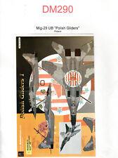 """Decal -  Mig-29 UB """"Polish Gliders"""" - Aztec 72-036 - ( Ref DM290)"""