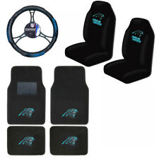 New NFL Carolina Panthers Car Truck Seat Covers Floor Mats Steering Wheel Cover