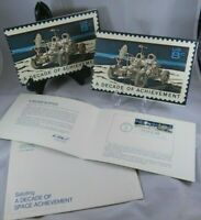1st Day Issue Decade in Space NASA Stamps Huntsville Kennedy Houston Postmark
