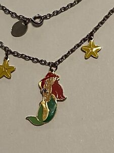 Disney Girls Ariel Mermaid Necklace Two Starfish. Sweet!!