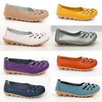 Shoes Women's leather flats comfortable soft nodule sole auyi designer Ladies
