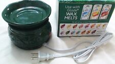 Glade Electric Wax Melt Tart Warmer Limited Winter Collection NEW Green Free SH