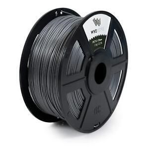 WYZworks 3D Printer Premium PETG Filament 1.75mm 1kg/2.2lb - SILVER