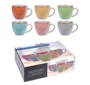Porcelain Espresso Cups 90ml Set Of 6 Multi Colour Espresso Cups Small Mini