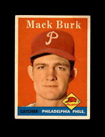 1958 Topps Baseball #278 Mack Burk (Phillies) EXMT