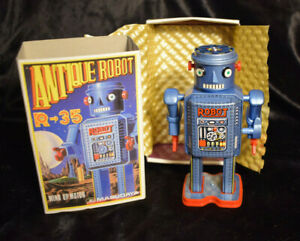 NEW OLD STOCK Vintage 1984  MasuyadaTin Robot Collectable Toy MINT New Old Stock