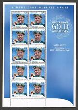 GRANT HACKETT STAMP SHEETLET ATHENS 2004 OLYMPICS in GREECE MNH MINT PERFECT