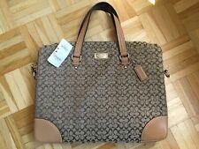 COACH Signature Voyage Brief Bag F70288 Tasche Laptop NWT NEU Leather brown