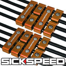 12 GOLD ENGINE SPARK PLUG WIRE SEPARATOR DIVIDER CLAMP KIT FOR 8MM 9MM 10MM B
