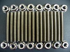 Ford 4.6 & 5.4 Liter V8 stainless exhaust manifold stud kit for 2 manifolds