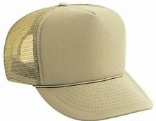 Justin Bieber style Solid khaki tan Blank Trucker Hat mesh hat snap back hat NEW