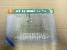 15/12/1996 Wales v South Africa [At Cardiff Arms Park] [Rugby Union Ticket] (In