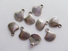 8pz charms ciondoli conchiglia seashell colore tibetano 15x13mm  bijoux