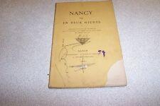 LALLEMENT Louis Nancy vu en deux heures Opuscule destiné aux voyageurs qui s'a