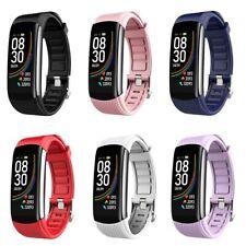 Reloj Inteligente Cuerpo Termómetro Temperatura Monitor Pulsera de frecuencia cardíaca en tiempo real