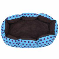 1X(Removable cushion House Bed for Pets Dog Cat S Blue, Black dots R8C8)