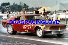 Jack Chrisman 1969 Ford Mustang NITRO Funny Car 8x10 PHOTO!