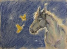 Horse Art Equestrian painting original Pastel artwork Listed By artist American