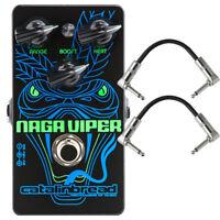 Catalinbread Naga Viper Treble Boost Rangemaster Guitar Effects Pedal +Cables