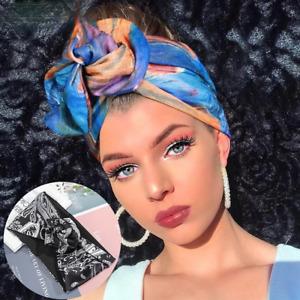 Knotted Headbands Turban Printed Bandana Women's Multi Use Adjustable Hair Bands