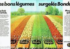 PUBLICITE ADVERTISING 116  1978  les légumes surgelés Bonduelle (2p)