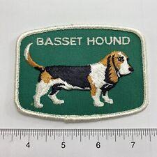 Vintage  Dog Pet Breed Basset Hound  Sew-On Patch . Show Label
