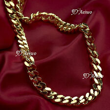 18K YELLOW GOLD GF CURB CHAIN NECKLACE 59.5CM