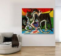 Pablo Picasso Oil Painting Bullfight Hand-Painted Famous Art on Canvas 30x40 in