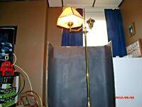 Vintage Brass Single Light Floor Lamp