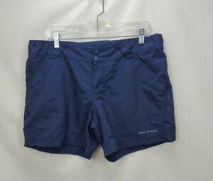 Columbia PFG Womens Omni Shade Shorts Size Large Blue Nylon Hiking Outdoor