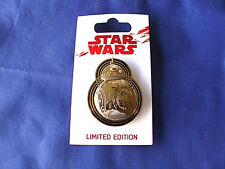 Disney Star Wars * BB-8 - LAST JEDI * New on Card Sculpted Golden LE Pin