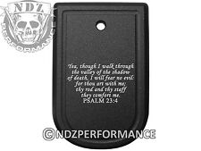 Bible Psalm 23:4 Magazine Floor Base Mag Plate For Springfield XD 9mm .40