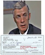 ALF KJELLIN  FILM STAR ACTOR DIRECTOR  SIGNED BANK CHEQUE / CHECK  1983   RARE