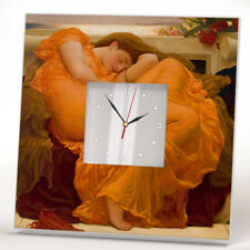 Flaming June Leighton Wall Clock Mirror Decor Printed Art Home Room Design Gift