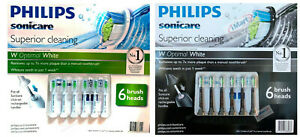 6 Pack Philips Sonicare Superior Cleaning Electric Toothbrush Replacement Heads