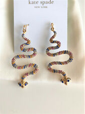 KATE SPADE 12K Gold Plated Spice Things Up Snake Drop Earrings w/ KS Dust Bag