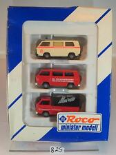 Roco 1/87 No.2734 Set 3 x Volkswagen VW T3 Friedensdorf International OVP #825