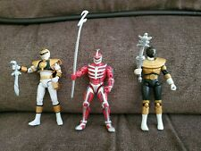 Power Rangers Super Legends Lot Mighty Morphin White Gold Ranger Lord Zedd rare