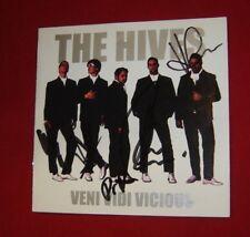 THE HIVES ~ VENI VIDI VICIOUS 2000 US CD INSERT HAND AUTOGRAPHED