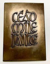 """Wild Goose Studio 8"""" Cead Mile Failte Plaque"""