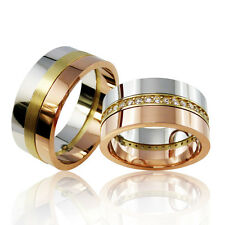 2 Silber Trauringe mit Gravur + Etui Eheringe Verlobungsringe Partnerringe 3319